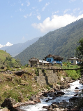 First vew of the himalayas