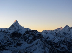 Amadablam is the most uniquely beautiful mountain on the skyline.
