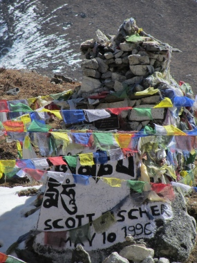 Sherpa and westerners lie side by side. Those of means have plaques while others live in hearts and minds.