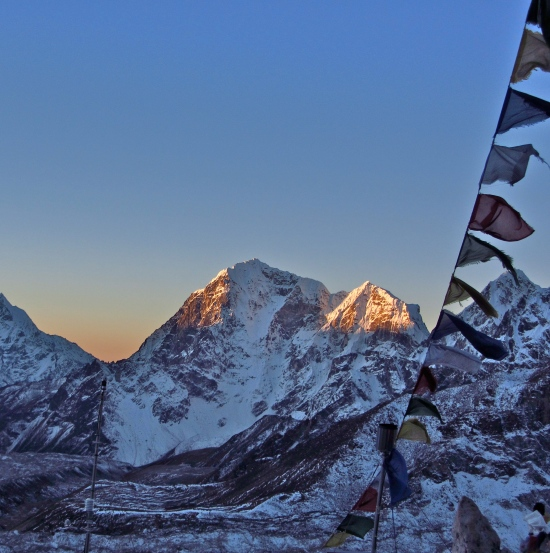 Every mountain and pass in Nepal is clothed in prayer flags.