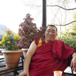 A Rinpoche quizzing me on buddhism.
