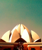 The Lotus Temple Delhi. One of 7 Bahá'í temples in the world.