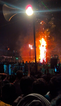 My first night in Delhi coincided with a holiday where they burn 70ft effigies. Indian Burning Man.