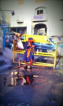 Sikh worrier down town