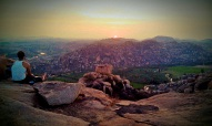 Stunning sunset good bye Hampi namaste