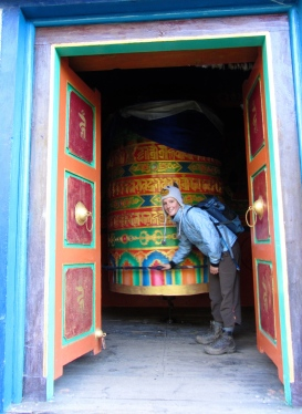 Giant prayer wheel